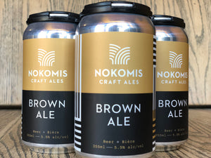 NOKOMIS BROWN ALE (4 x 355ml)