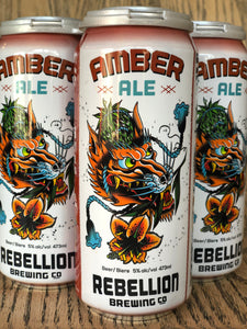 REBELLION AMBER ALE (4 x 473ml)