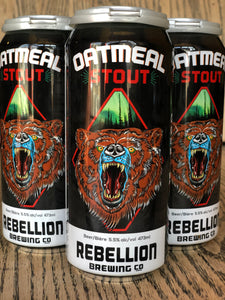 REBELLION OATMEAL STOUT (4 x 473ml)