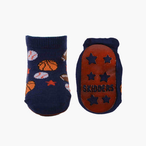 Skidders Baby Sock with Grip Bottom (Boys) Navy Blue Sports