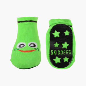 Skidders Baby Sock with Grip Bottom (Boys) Green Frog