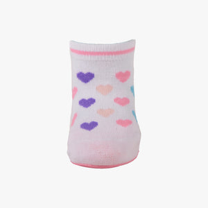 "Skidders Baby Girls Grip Socks ""Colorful Hearts"""
