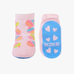 "Skidders Baby Girls Grip Socks ""Cupcakes"" Pink"