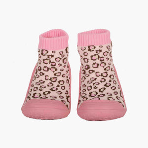 "Skidders Baby Girls Grip Shoes ""Leopard"""