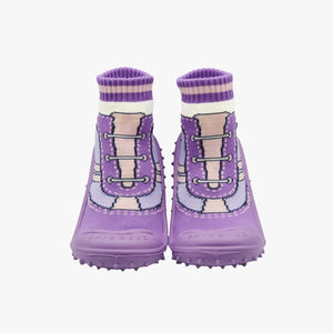 "Skidders Baby Girls Shoes ""Purple Sneaker Laces"""