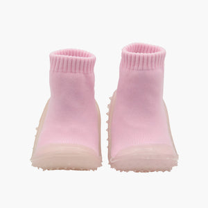 Skidders Baby Girls Pink Crystal Grip Shoes