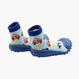 "Skidders Baby Boys Shoes ""Firetrucks & Police Cars"""