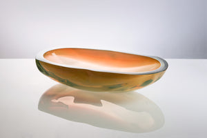 Cut & Polished Vessel - Glass Bowl by David Reade Glass Art