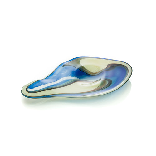 Desert & Ocean Landscape Platter by David Reade Glass Art
