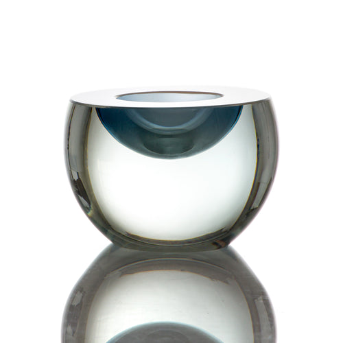 Cut & Polished Votive - Tealight by David Reade Glass Art