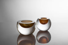 Load image into Gallery viewer, Cut & Polished Votive - Tealight by David Reade Glass Art