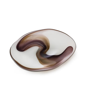 Free Form Platter - Hand Blown by David Reade Glass Art
