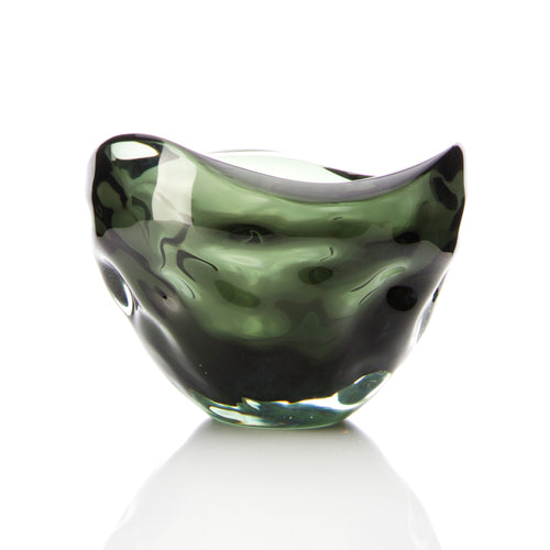Carved Free Form Bowl - David Reade Glass Art