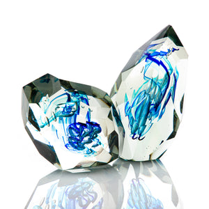 Glacier Cut Objet - David Reade Glass Art