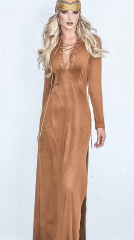 Amber Suede Dress
