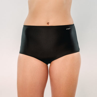 Just Black - Bikini Panty HighHip - badaga