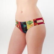 Colorful Triangles - Bikini Panty Straps - badaga
