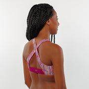 Pink Jungle - Bikini Top Cross Over - badaga