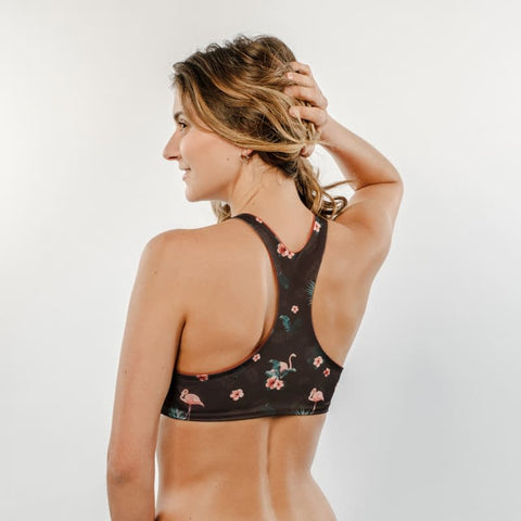 Fluffy Flamingo - Bikini Top High Neck - badaga