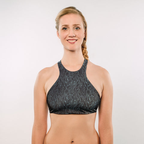 Wild Waves - Bikini Top High Neck - badaga