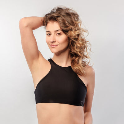 Just Black - Bikini Top High Neck - badaga