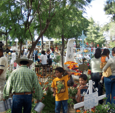"The ""Panteon"" or Cemetery on Day of the Dead"