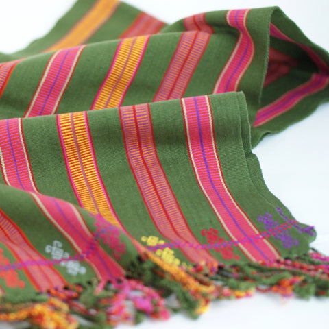 Handwoven scarves from Chiapas