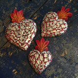 MEXICAN MILAGRO HEARTS-ZINNIA FOLK ARTS