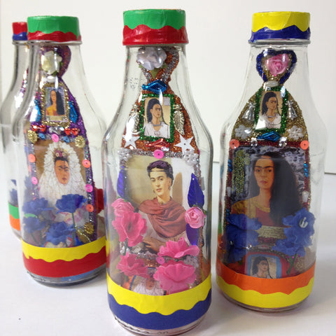Frida Kahlo Bottle Shrine
