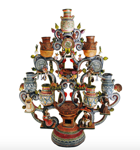 Tree of Life-Castillo Orta, Zinnia Folk Arts
