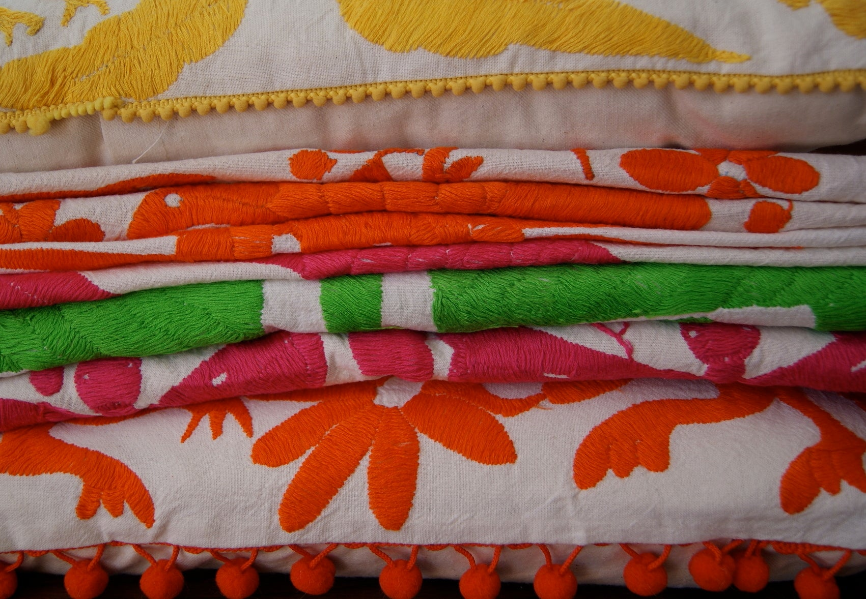 Embroidered Mexican textiles