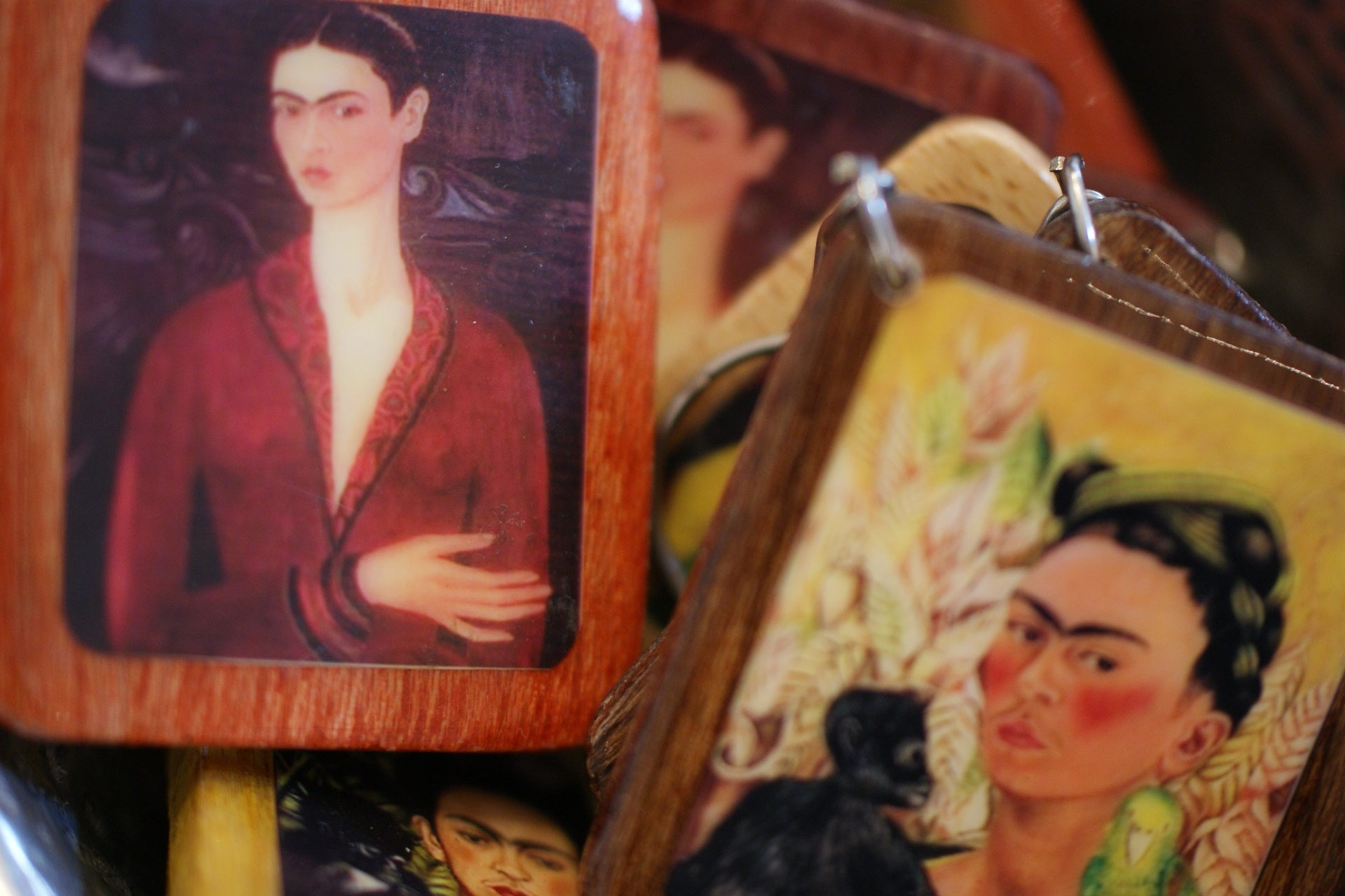 Key chains with Frida Kahlo Images