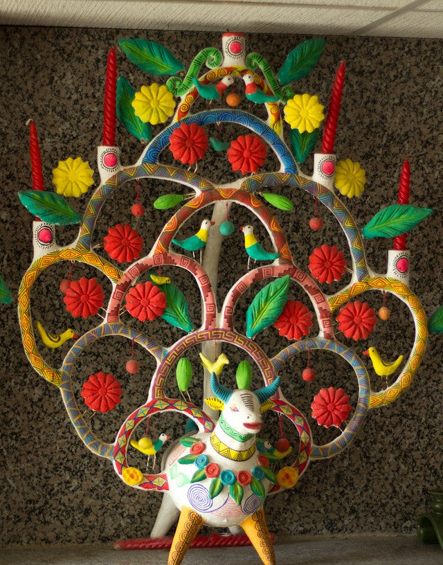 Heron Martinez Tree of Life, Zinnia Folk Arts