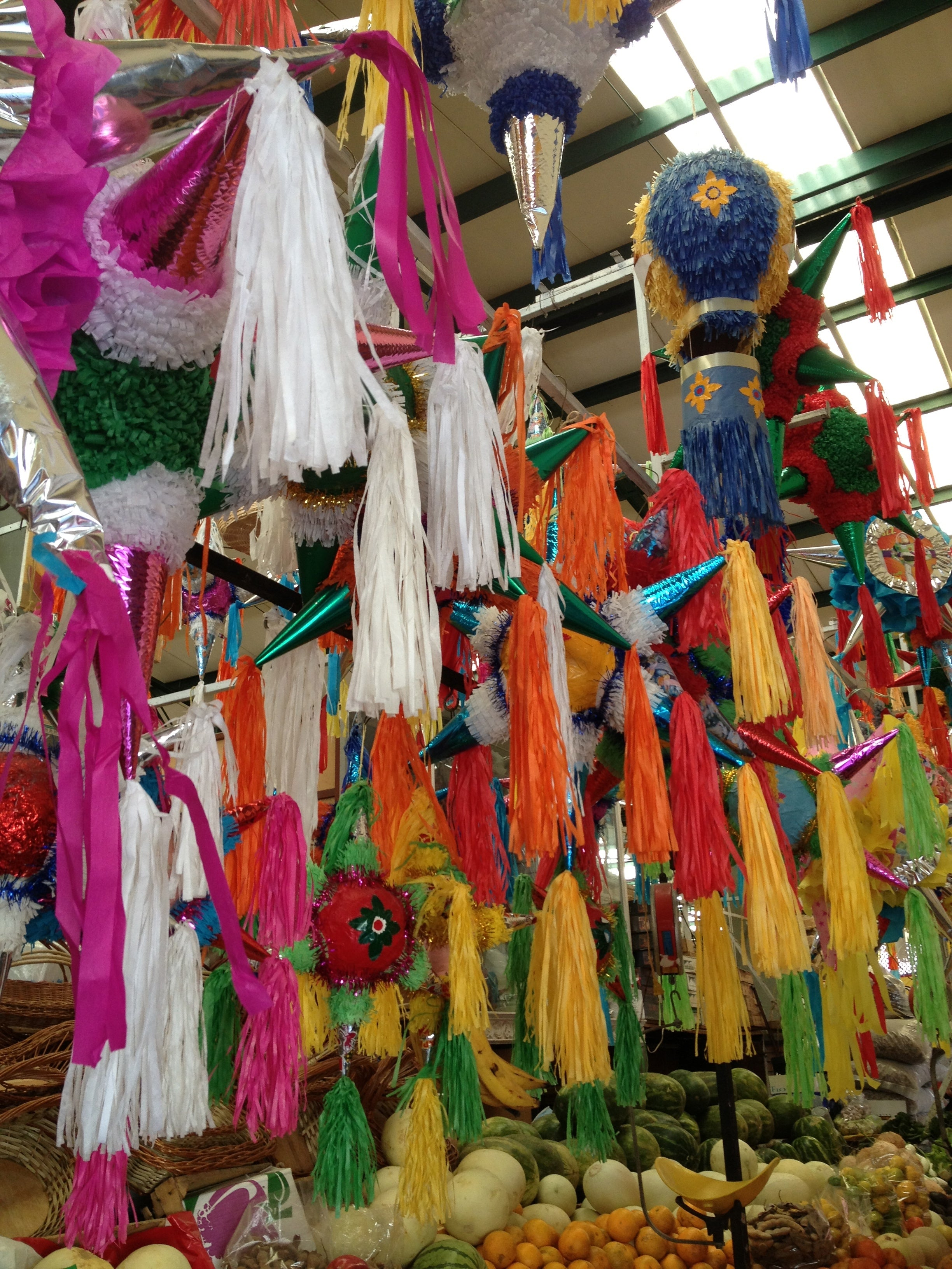 Mexican Pinatas in the Market