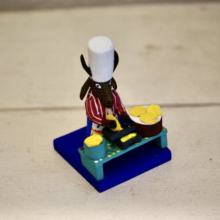 Tiny Carved Wooden Chefs from Oaxaca - Zinnia Folk Arts