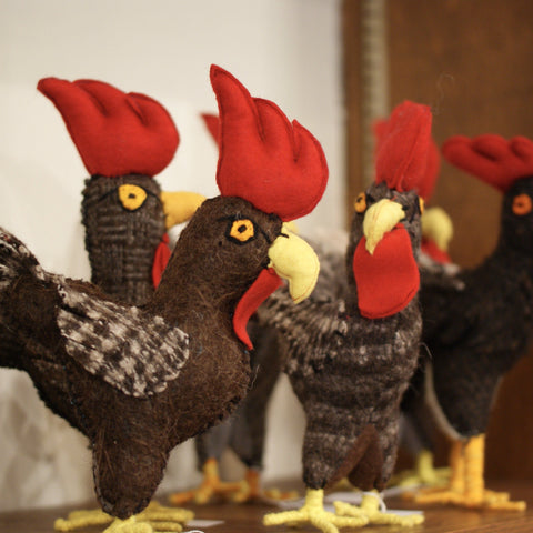 Wool Roosters from Chiapas, Medium