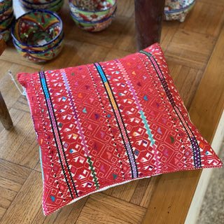 Large Chiapas Square Pillow, Victoria Diaz - Zinnia Folk Arts