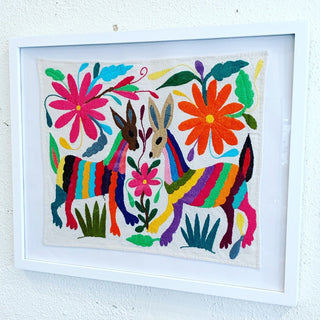 Otomi Hand Embroidered Placemats, Multi-colored - Zinnia Folk Arts