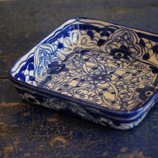 "Square 9""x 9"" Mexican Talavera Baking Pan"