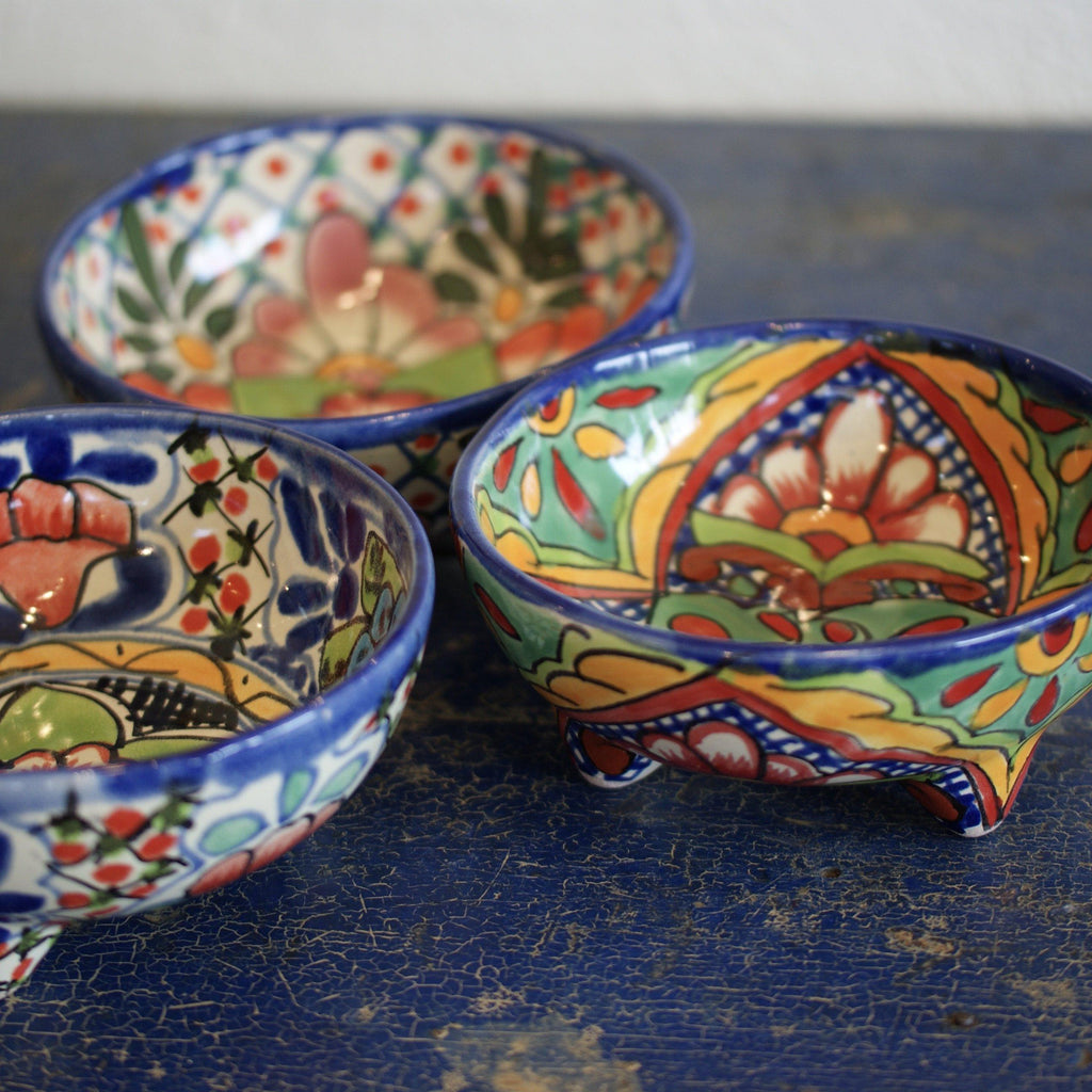 Large Three-Footed Molcajete Bowls, Dolores Hidalgo - Zinnia Folk Arts