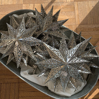 Double Sided Hammered and Cut Tin Star, Extra Large - Zinnia Folk Arts