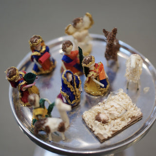 Tiny Woven Palma Nativity Scene, 11 pieces - Zinnia Folk Arts