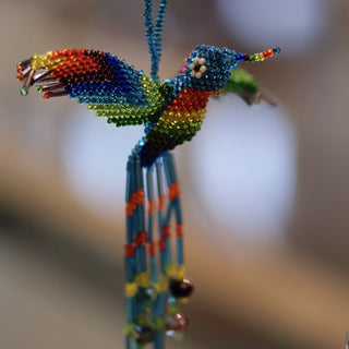 Beaded Hummingbird Ornaments - Zinnia Folk Arts