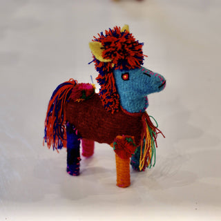 Wool Horses from Chiapas, Small - Zinnia Folk Arts
