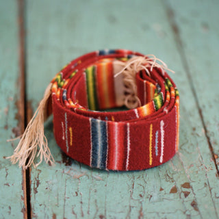 Wool Saltillo Belt - Zinnia Folk Arts