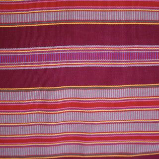 Large Striped 100% Cotton Chiapas Pillow, Pantelho - Zinnia Folk Arts