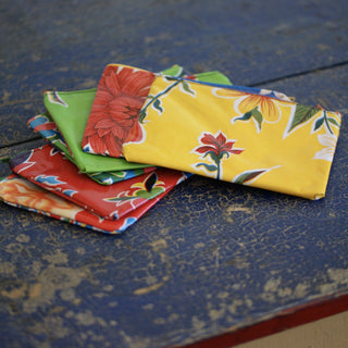 Small Oil Cloth Cosmetic Bags - Zinnia Folk Arts