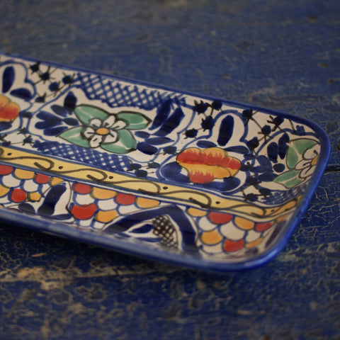 Small Talavera Bread Tray - Zinnia Folk Arts