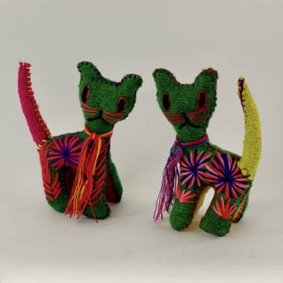 Wool Cats from Chiapas - Zinnia Folk Arts