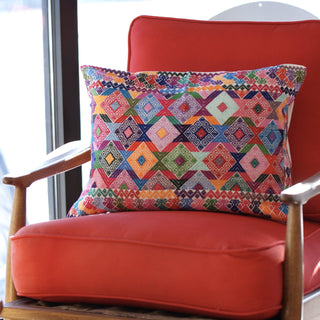 Bright Colors Chiapas Lumbar Pillow, Martha Hernandez - Zinnia Folk Arts